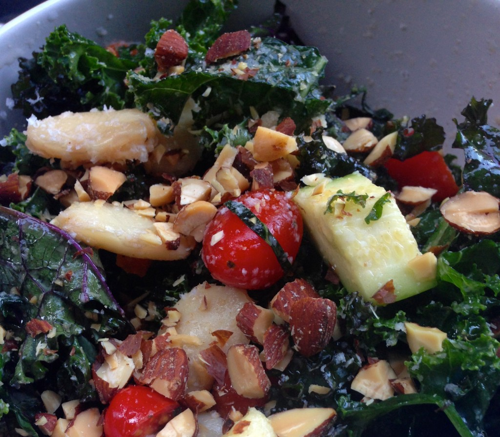 Kale & Zucchini Salad via Kitchen Nomad